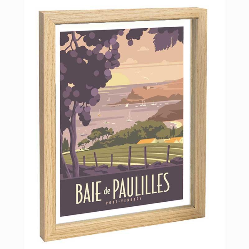 Baie de Paulilles, Travel poster 30x40