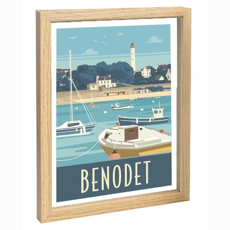 Benodet Travel poster 30x40
