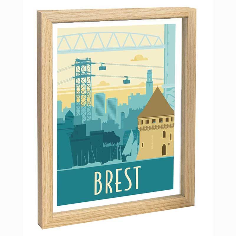 Brest Travel poster 30x40