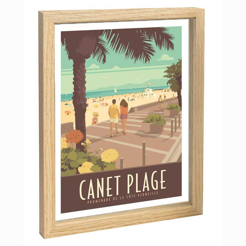 Canet Travel poster 30x40 Cote Vermeille