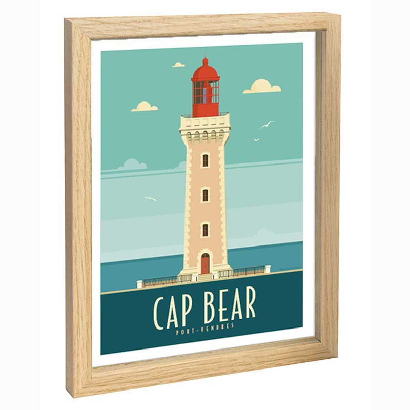 Cap Bear Travel poster 30x40