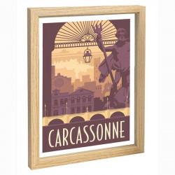 Carcassonne Travel poster 30x40