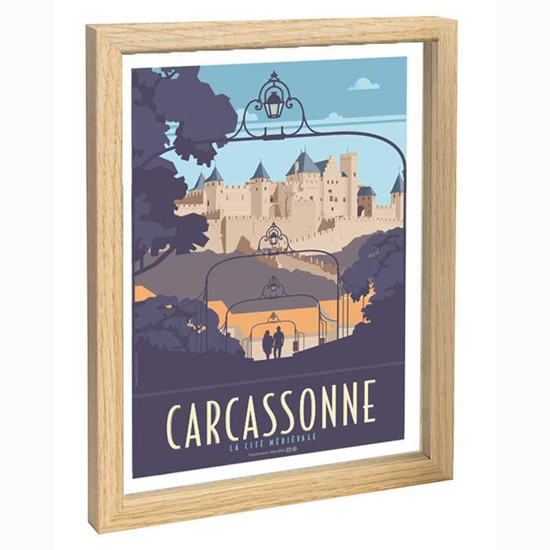 Carcassonne Travel poster 30x40 la cité médievale
