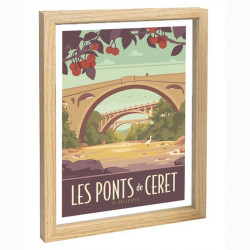 Le Vallespir Travel poster 30x40 les ponts de Ceret