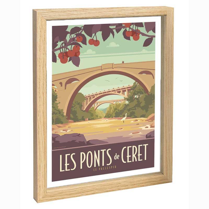 Le Vallespir Travel poster 30x40 les ponts de Ceret