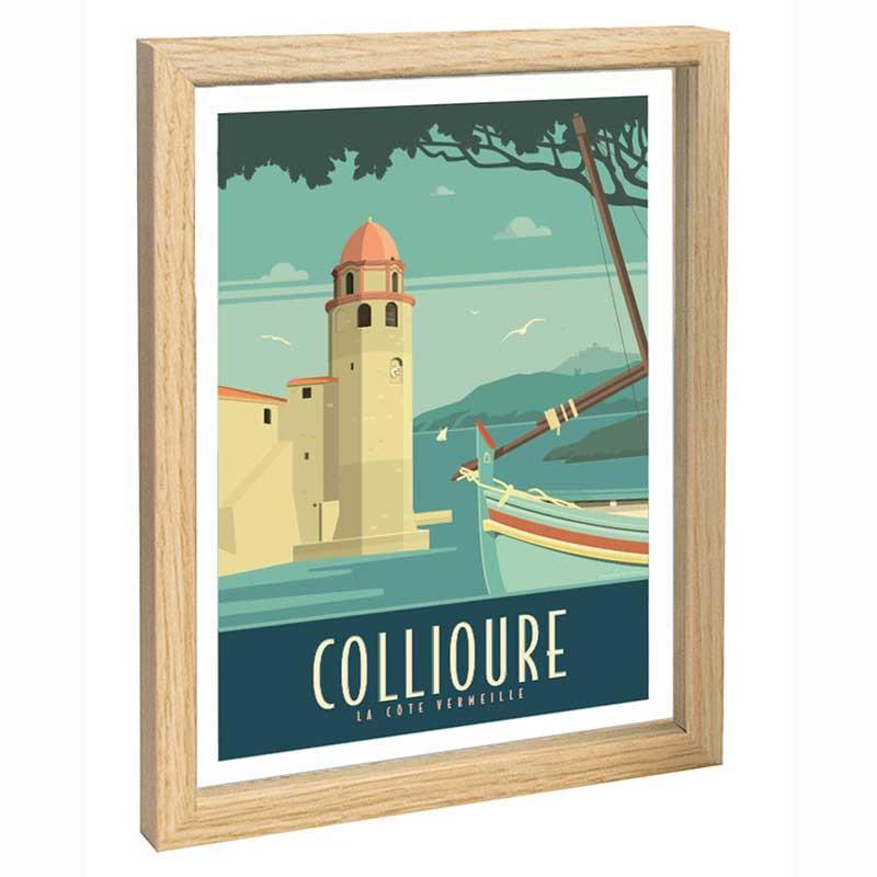 Collioure Travel poster 30x40 la cote Vermeille