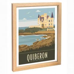 Quiberon Travel poster 30x40 chateau Turpault