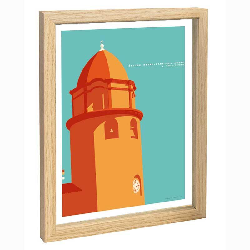 Collioure Travel poster 30x40 église Notre Dame des Anges