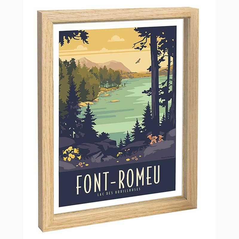 Font Romeu Travel poster 30x40 lac des Bouillouses