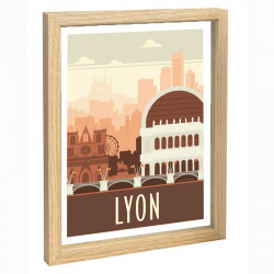 Lyon Travel poster 30x40