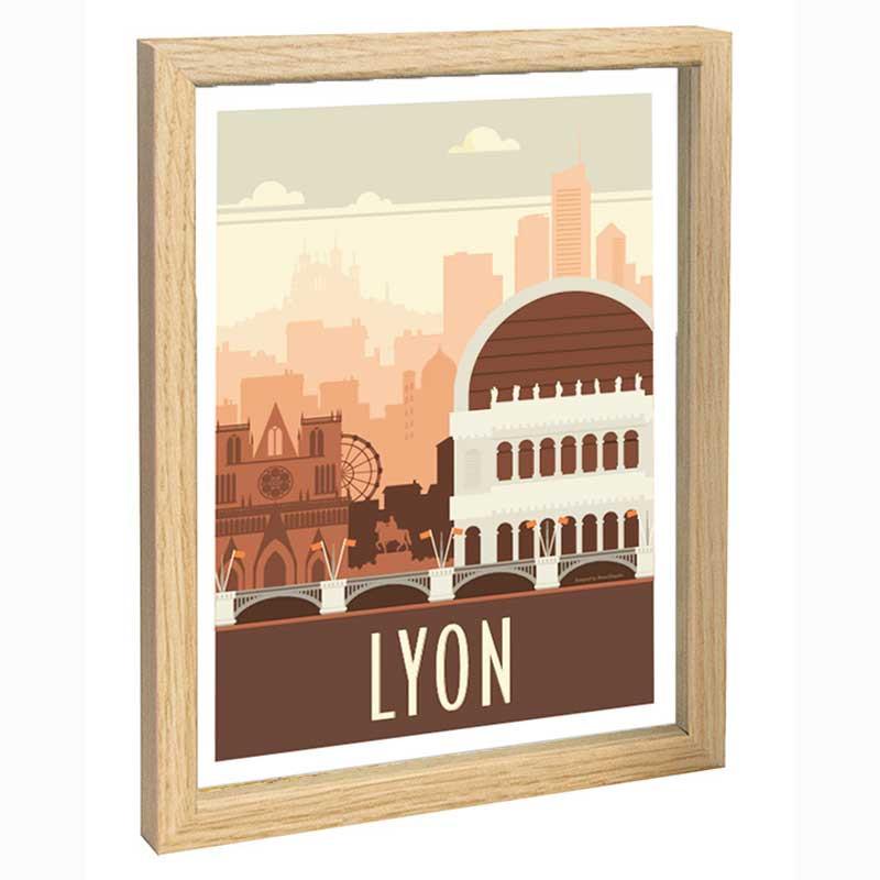 Lyon Travel poster 30x40