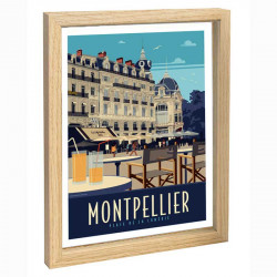 Montpellier Travel poster...