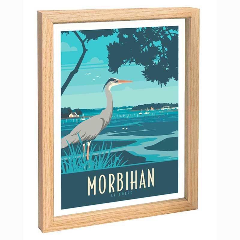 Morbihan Travel poster 30x40 le golfe