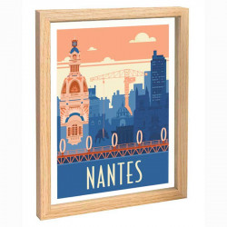 Nantes Travel poster 30x40