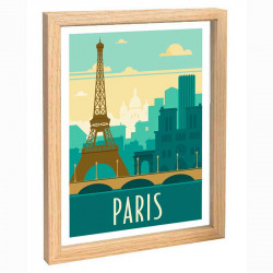 Paris Travel poster 30x40 tour Eiffel