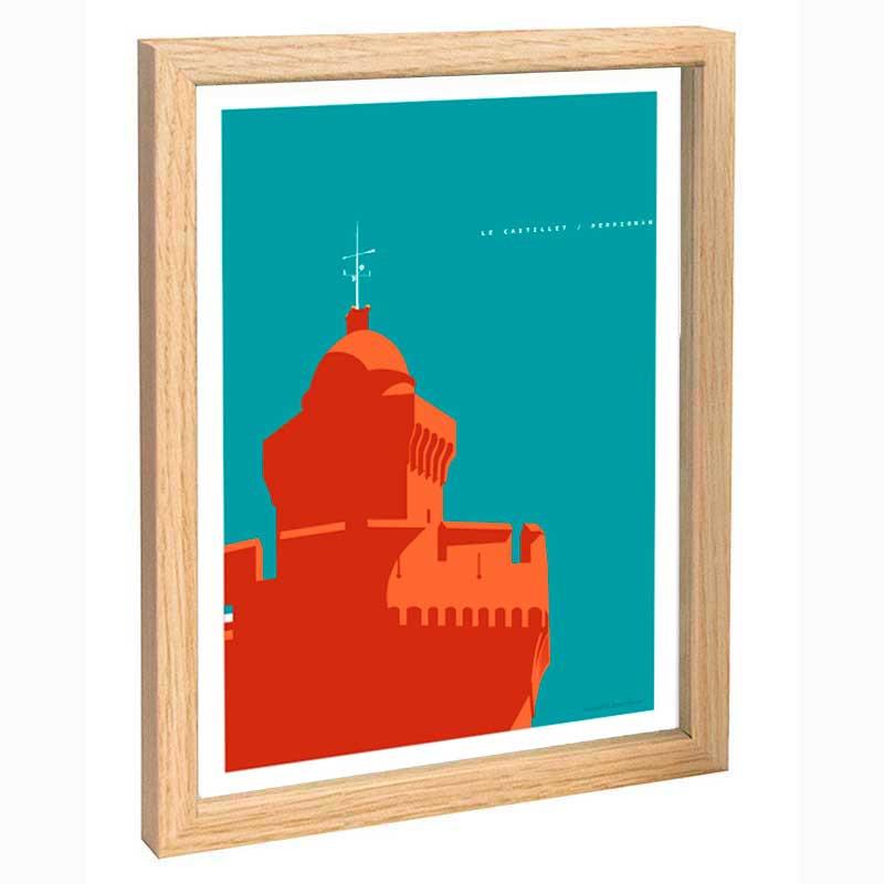 Perpignan Travel poster 30x40 le Castillet