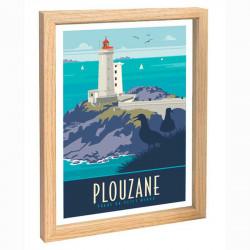 Plouzane Travel poster 30x40 phare du petit minou