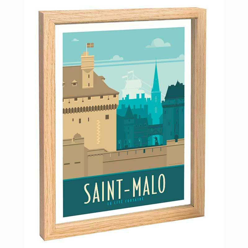 St Malo Travel poster 30x40 la cité corsaire