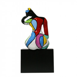 """"""" Pêché mignon, Happy """", statuette design de Déesse"""