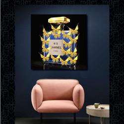 """""""Parfum doré, Chanel n°5"""", tableau plexi design"""