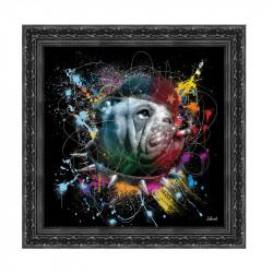 """CHE GEVADOG"", 49x49 cm, tableau design SYLVAIN BINET"