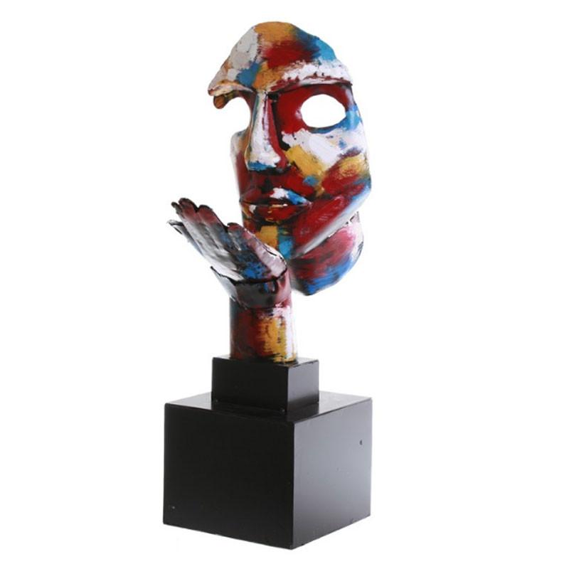 """"""" Souffle d'espoir, pigment """", sculpture design métal"""