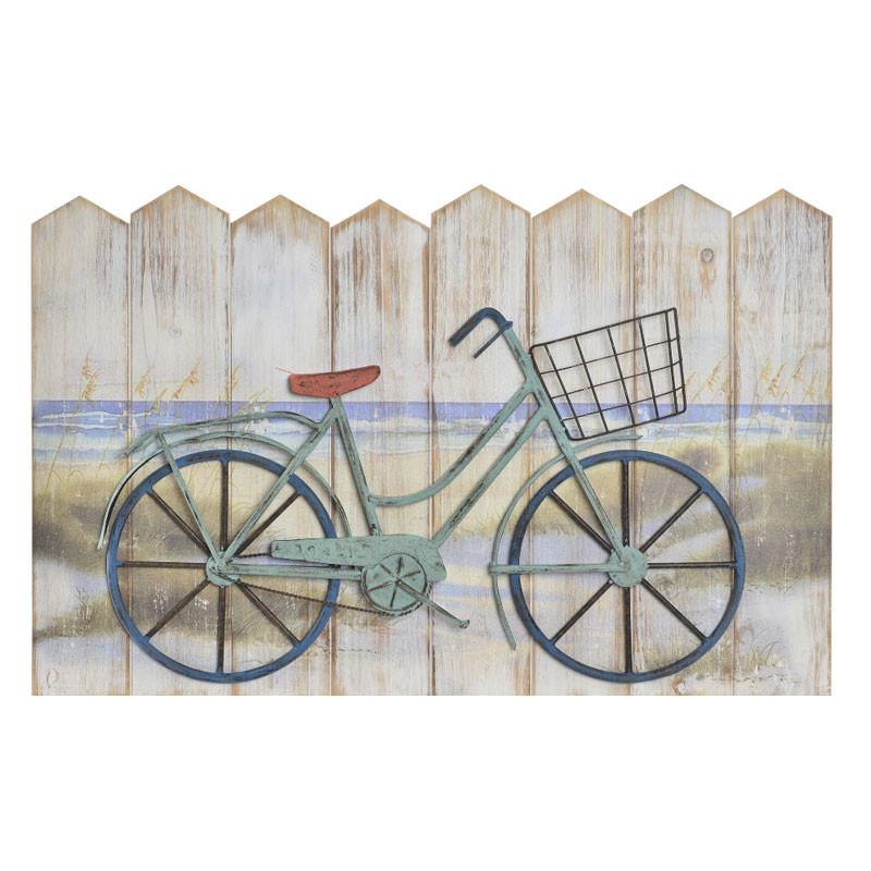 """"""" Ballade à vélo"""", déco murale bois et métal"""
