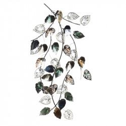 """"""" Branche feuillage ajouré """", décoration murale métal"""
