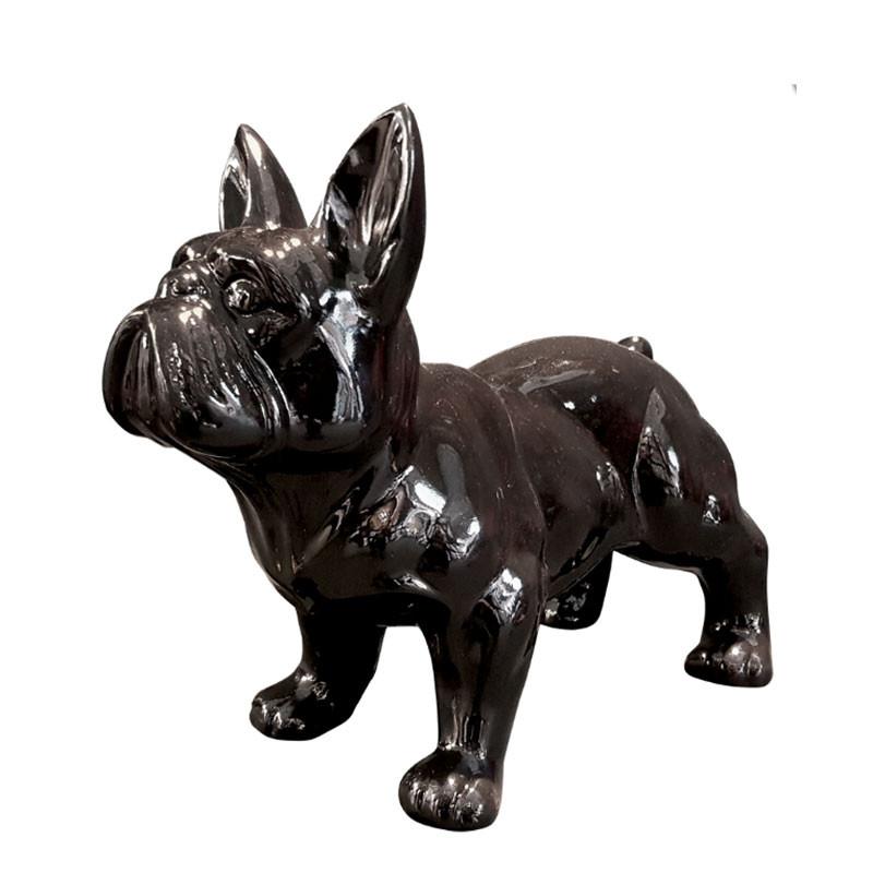 BOULEDOGUE FRANÇAIS NOIR, 37 cm, sculpture et statue design