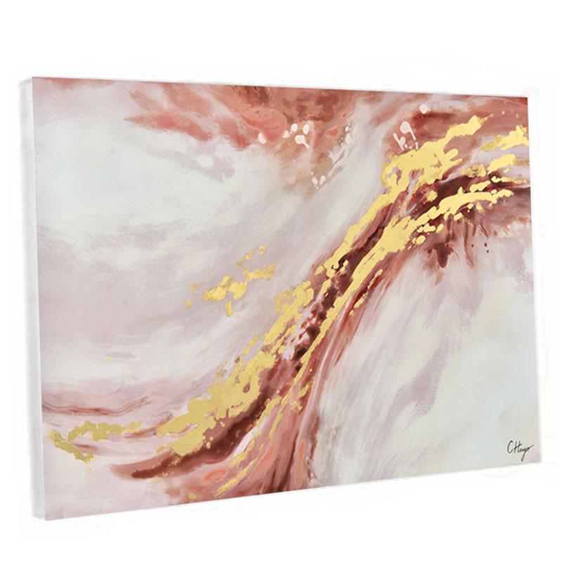 """"""" LA VAGUE """", tableau contemporain abstrait 80 x 120 cm"""