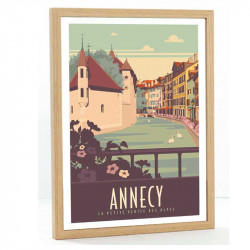 Annecy Travel poster 50x70