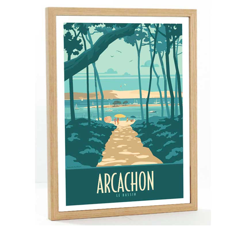 Arcachon Travel poster 50x70