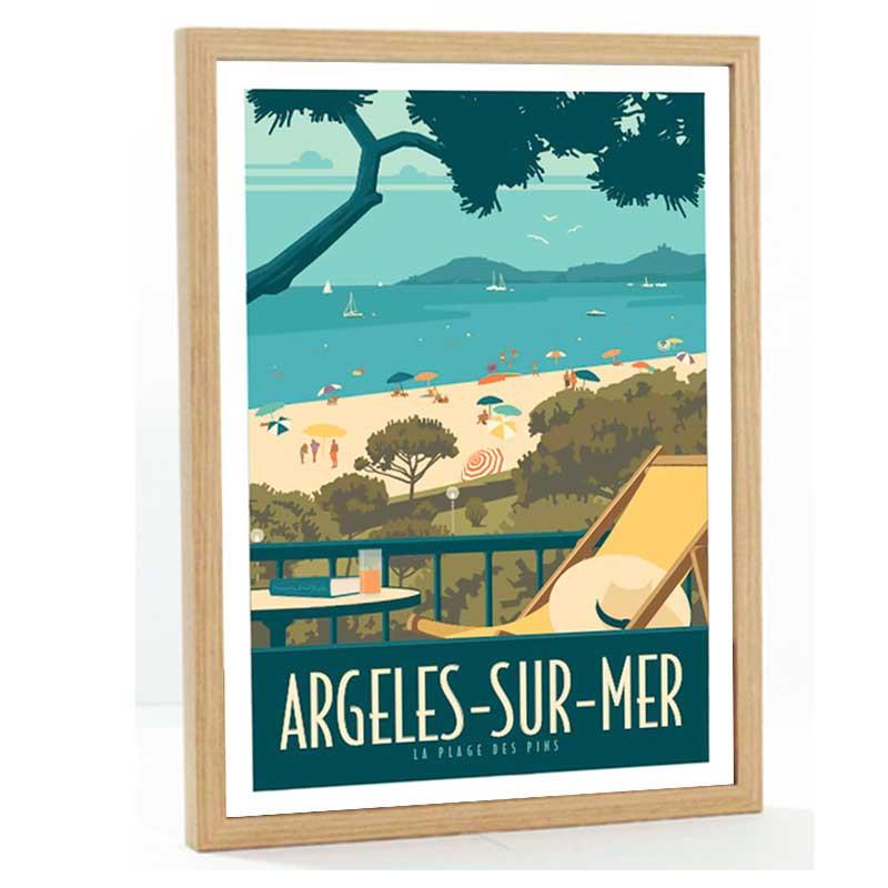 Argeles sur mer, Travel poster 50x70