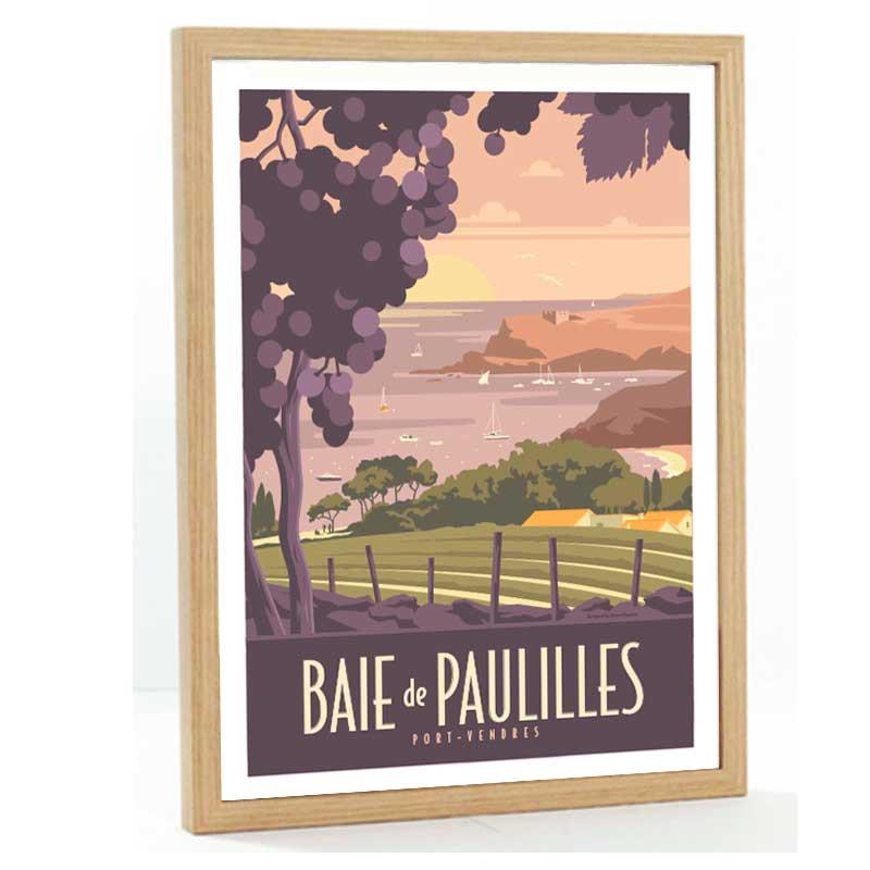 Baie de Paulilles, Travel poster 50x70