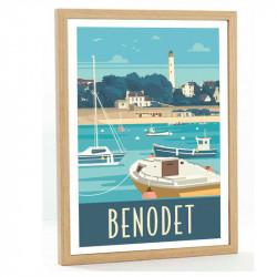Benodet Travel poster 50x70