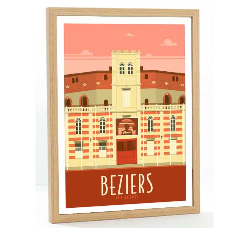 Beziers Travel poster 50x70
