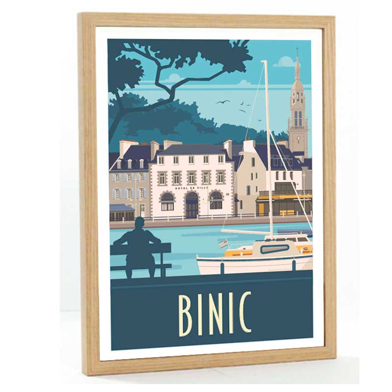 Binic Travel poster 50X70