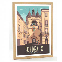 travel poster bordeaux