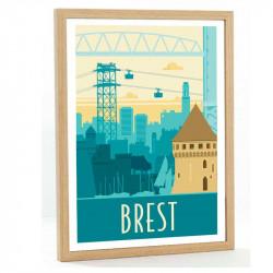 Brest Travel poster 50x70