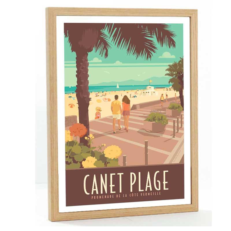 Canet Travel poster 50x70 Cote Vermeille