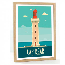 Cap Bear Travel poster 50x70