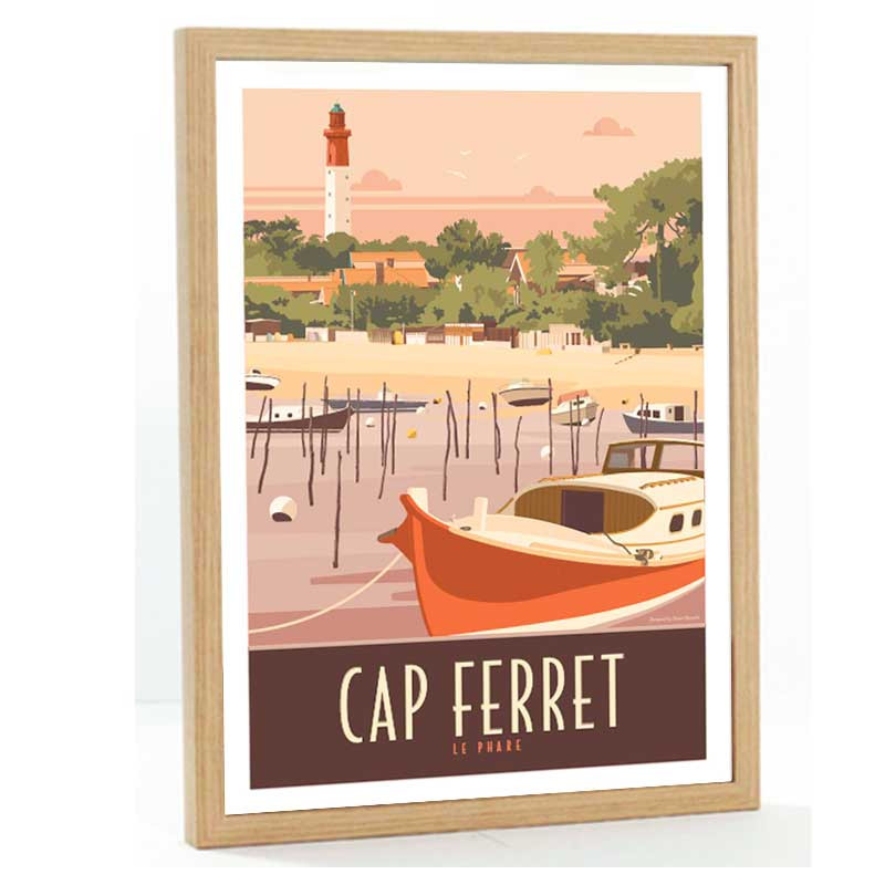 Cap Ferret Travel poster 50x70