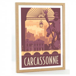 Carcassonne Travel poster 50x70