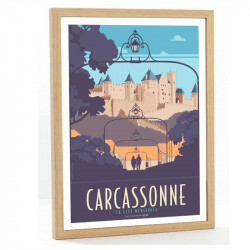 Travel poster Carcassonne