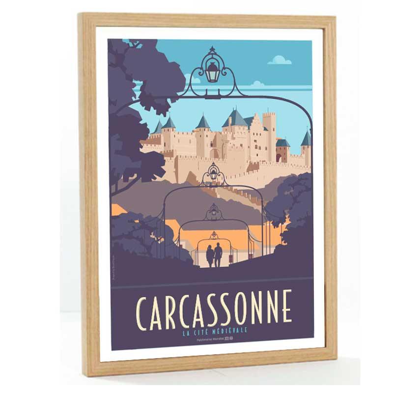 Carcassonne Travel poster 50x70 la cité médievale