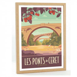 Le Vallespir Travel poster 50x70 les ponts de Ceret