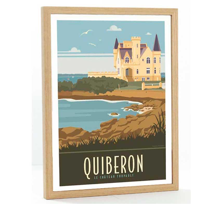Quiberon Travel poster 50x70 chateau Turpault