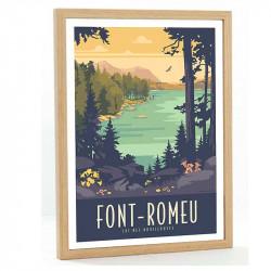 Font Romeu Travel poster 50x70 lac des Bouillouses