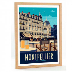 Montpellier Travel poster...
