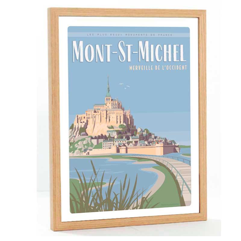 """""""Mont-St-Michel"""", Travel poster vintage, 50x70"""